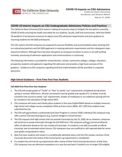CSU UC Flexibility