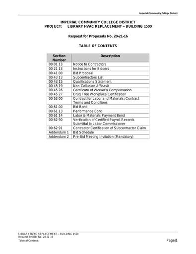 CUPCCAA Formal Bid and Contract Docs