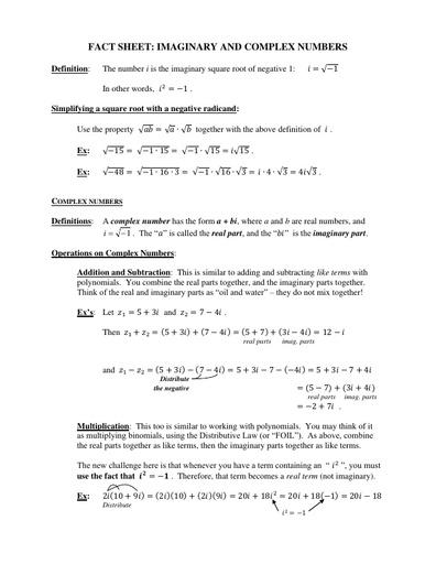 IVC factsheet complexnumbers