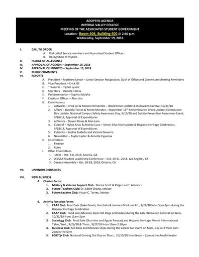 Agenda ASG 2018 09 19