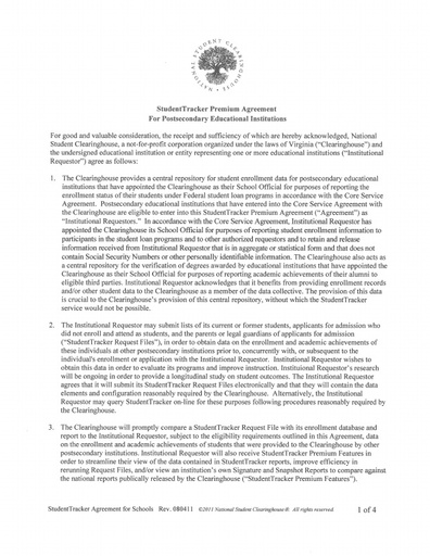 Agreement   062618   National Student Clearinghouse
