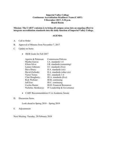 Agenda Cart 2017-12-05