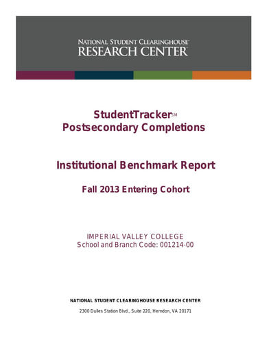 Completions Fall 2013 to 2019 Cohort