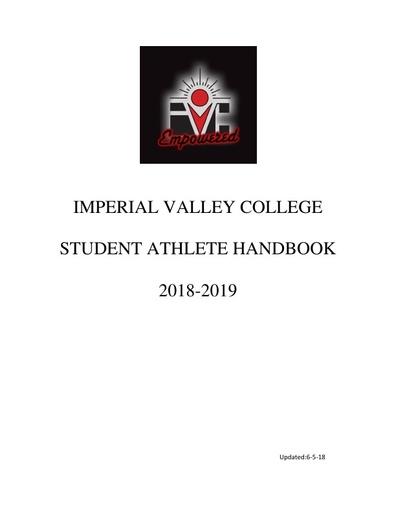 IVC Student Athlete Handbook 2018 2019