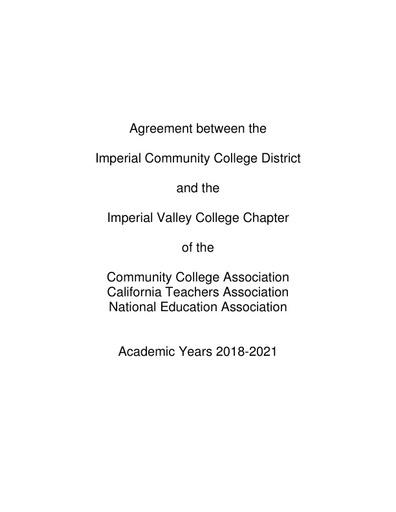 2018-21 CTA Contract Tentative Agreement