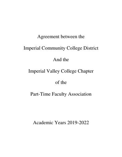 IVCPTFA Contract 2019-2022