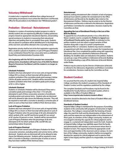 Probation, Dismissal & Reinstatement Procedures