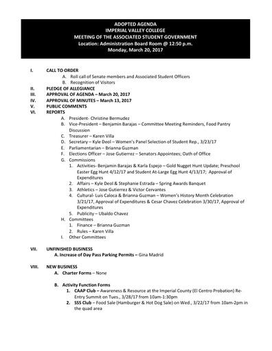 Agenda ASG 2017 03 20