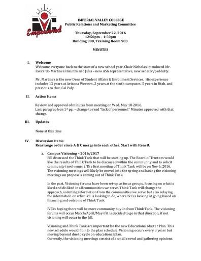 PRMC Minutes 9 22 16