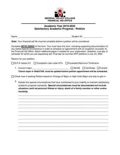 SAP Petition Form 19 20