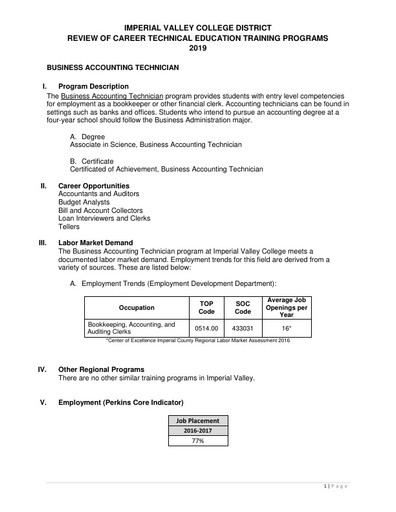 Business Accounting Technician