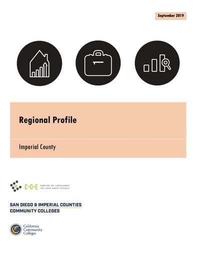 Imperial County Regional Job Profile September 2019