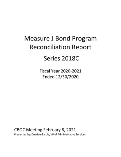 Expenditure Report 2020-12-30 Measure J