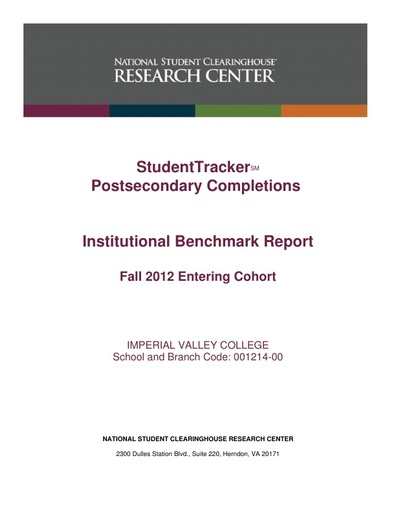 Completions Fall 2012 to 2018 Cohort