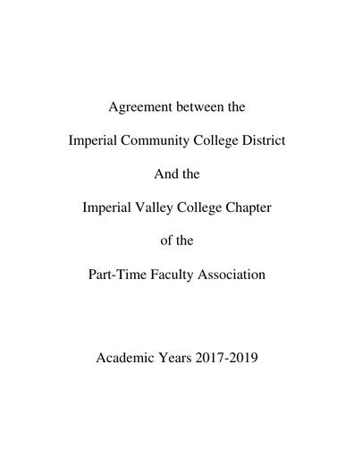 IVCPTFA 2017-2019 Contract
