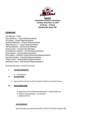 2017-11-14 CAC Agenda