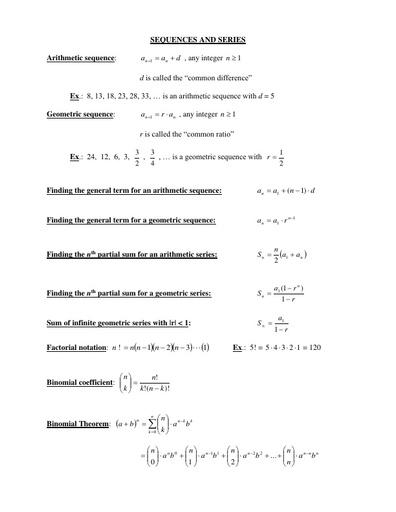 IVC factsheet sequences