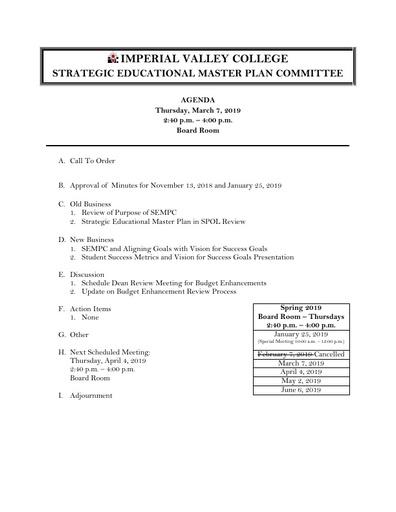 Agenda SEMPC 2019 03 07