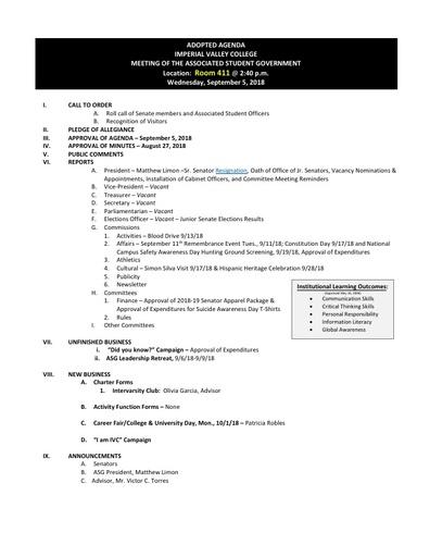 Agenda ASG 2018 09 05