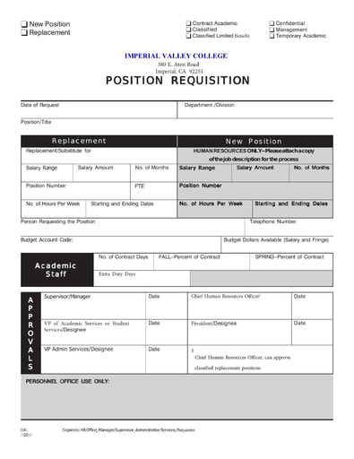 Position Requisition