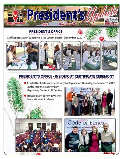 President's Update 12 - 2018-01-02