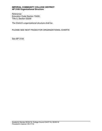 AP 3100 Organizational Structure