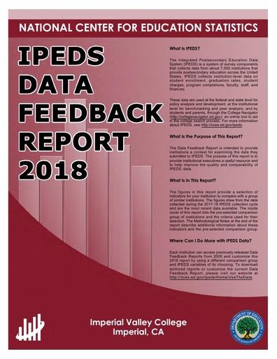 IVC IPEDS DATA FEEDBACK REPORT 2018