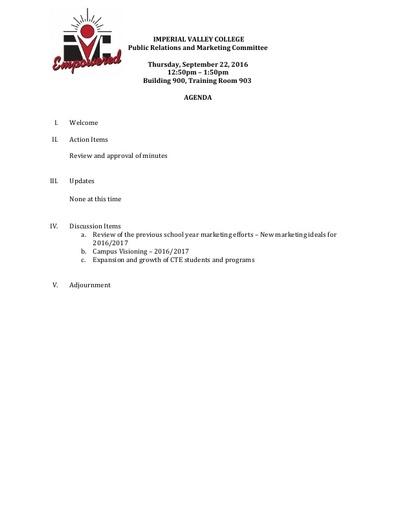 PRMC Agenda 9 22 16