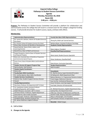 Agenda - Pathways to Student Success Committee_2018-11-26