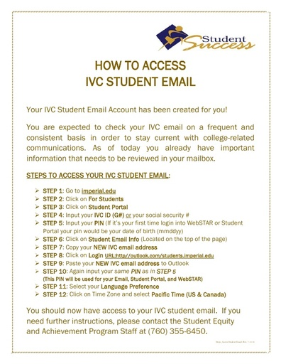 How to Access IVC Student Email