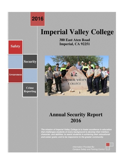 2016 Annual Security Report
