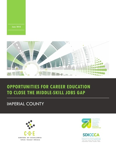 Opportunities for Career Ed to Close the Middle - Skill Jobs Gap June 2018