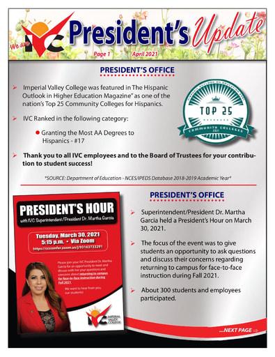 President's Update 04 - 043021