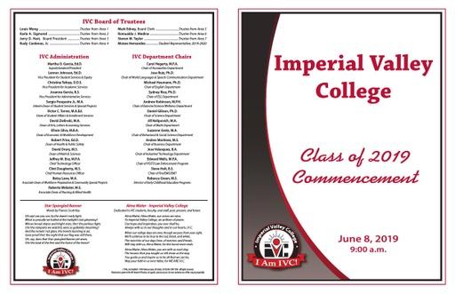 2019-06-08 - Commencement Program 2019 AM