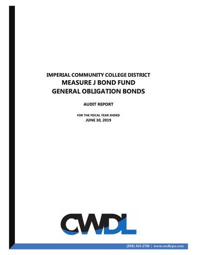 2019-06-30 Measure J Bond Audit