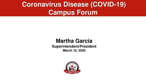 2020-03-10 - Coronavirus Campus Forum