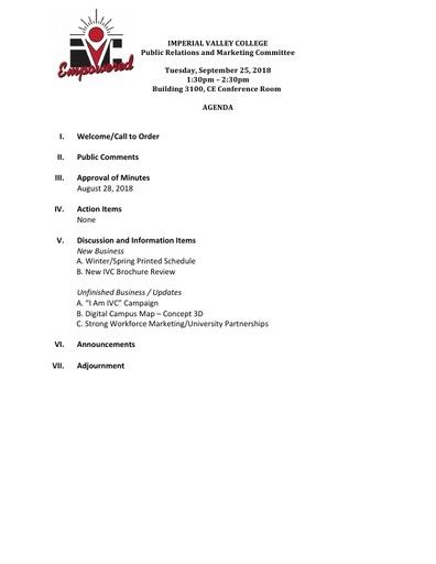 PRMC Agenda 09 25 18