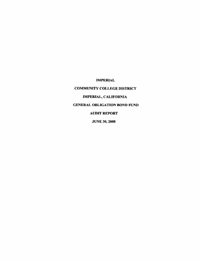 2008-06-30 Bond Audit