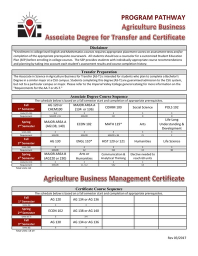 AG Business AS ADT and Cert - Program Pathway