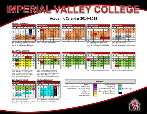 2014-15 IVC Academic Calendar